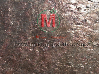 Copper Slate tiles and veneer slabs in all surface finishes like polished, honed, flamed, brushed (velvet finished) supplier from India.