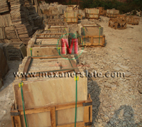 Premium crates, sandstone tiles packing in seaworthy, strong, scratch proof, chemical treated wooden crates.