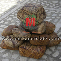 River pebbles tiles | Black pebbles tiles | Rainforest brown marble pebbles tiles | White pebbles tiles