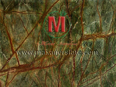 Polished rainforest green marble tiles, honed rainforest green marble tiles, broken rainforest green marble, natural rainforest green marble tiles, flamed rainforest green marble tiles, rainforest green marble velvet slabs, rainforest green marble mosaic tiles supplier from India.