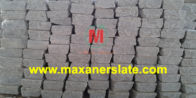 Blue limestone tumbled cobbles supplier from India.
